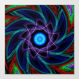 Whirled Star Canvas Print