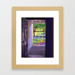 Outside the door Framed Art Print