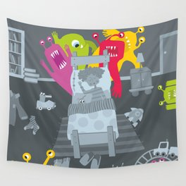 kid and ghosts Wall Tapestry