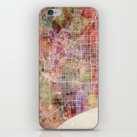 los angeles iPhone & iPod Skins featuring Los angeles by MapMapMaps.Watercolors
