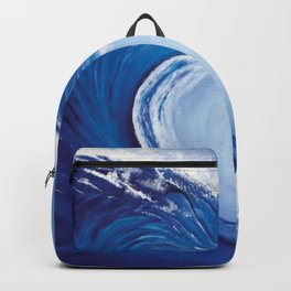 Big Wave Acrylic on Canvas Painting Digital Download Backpack
