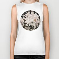 antique Biker Tanks featuring Antique Magnolias by A Wandering Soul