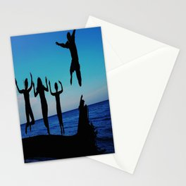 Brownie's beach silhouette Stationery Cards