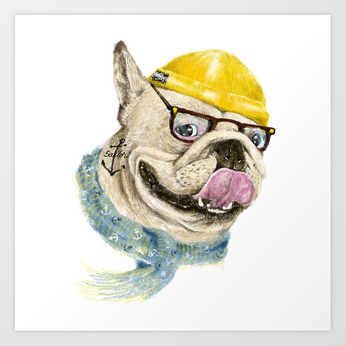 Mr.Bulldog III Art Print