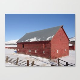 #406 bitterroot barn  Canvas Print