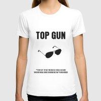 top gun T-shirts featuring Top Gun Movie Poster by FunnyFaceArt