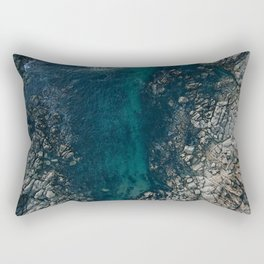 ocean blues II Rectangular Pillow