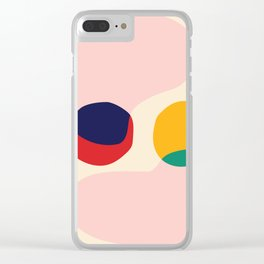 happy shapes Clear iPhone Case