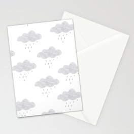 Rainy cloud Stationery Cards