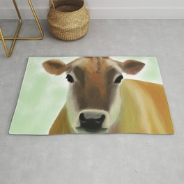 The Pretty Jersey Cow Portrait Rug