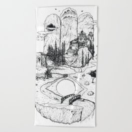 Hamsa in Nature Beach Towel