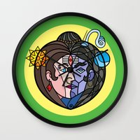shiva Wall Clocks featuring Shiva Parvati by Karthik