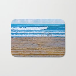 Beach Bike Bath Mat