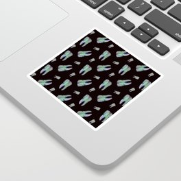 Loose Toothache - Hologram on Black Onyx Sticker
