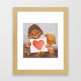 Heart Bears Framed Art Print