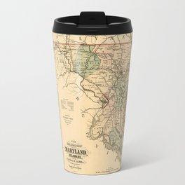 Vintage Maryland Railroad Map (1876) Travel Mug