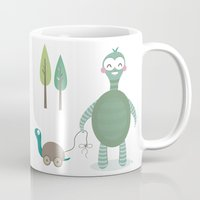 tortoise Mugs featuring Tortoise by Esther Ilustra