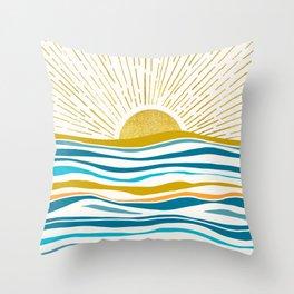 Sunrise At Sea Throw Pillow