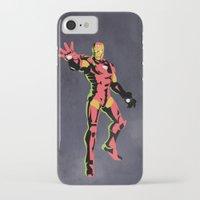 iron man iPhone & iPod Cases featuring iron man  by mark ashkenazi