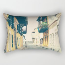 Summer Town (Retro and Vintage Urban, architecture photography) Rectangular Pillow
