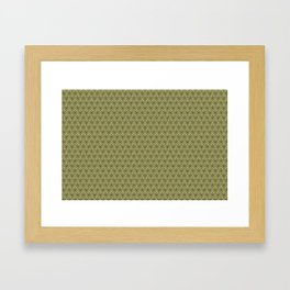 Yellow Apples Pattern Framed Art Print