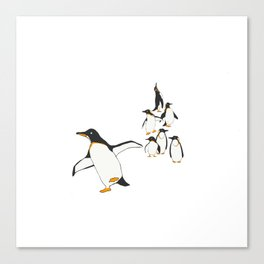 Penguin Party _ Walk This Way Canvas Print