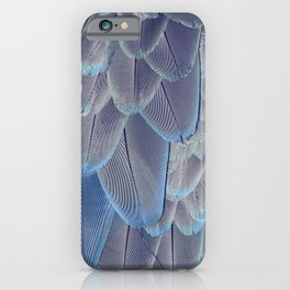 Silver Feathers iPhone Case