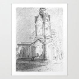 Oconee Cemetery Art Print