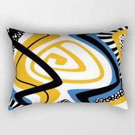 Blue & Yellow Craze Rectangular Pillow