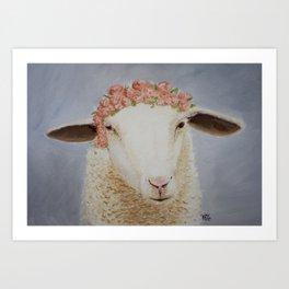 Crowned Lamb Art Print