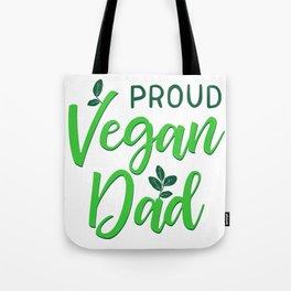 Proud Vegan Dad Tote Bag