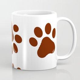Dog Paw Print Pattern Coffee Mug