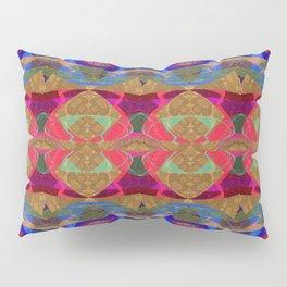 Glowing Geometric Tapestry Pattern Pillow Sham