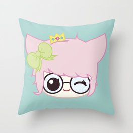 SUCHPLUSHSEWWOW CHIBI #1 Throw Pillow