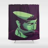 movie poster Shower Curtains featuring Enemy - Alternative movie poster by FourteenLab