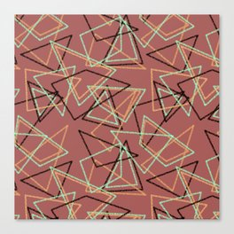 Colorful brown terracotta geometric pattern . Canvas Print