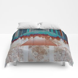 abstract floral forest 3 Comforters