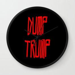 Dump trump -republican,democrats,election,president,GOP,demagogy,politic,conservatism,disaster Wall Clock