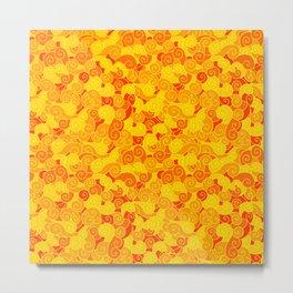 swirl pattern yellow orange Metal Print