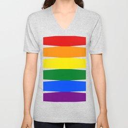 Love is Love 626 - LGBT Gay Flag Unisex V-Neck