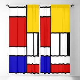 Mondrian Block Blackout Curtain