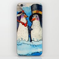 penguins iPhone & iPod Skins featuring penguins by oxana zaika