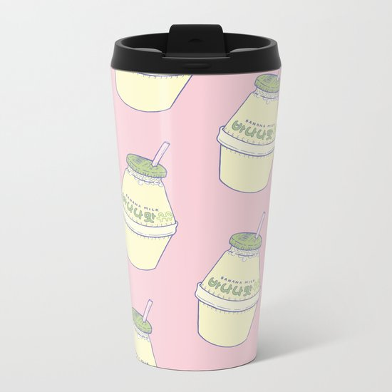 Banana Milk Metal Travel Mug