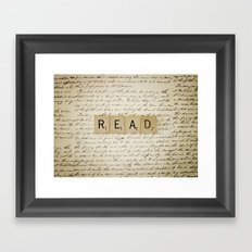 Bookaholic Framed Art Print