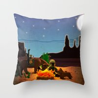 camping Throw Pillows featuring Camping by plopezjr