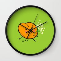 Apricot St Germain Wall Clock