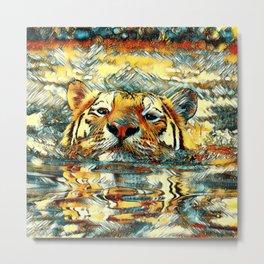 AnimalArt_Tiger_20170601_by_JAMColorsSpecial Metal Print