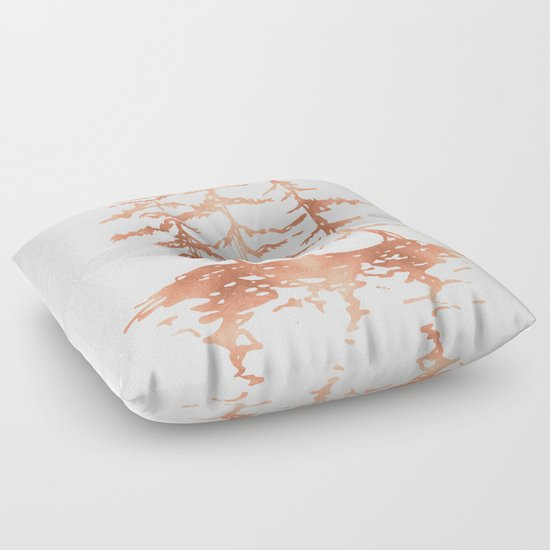 Gold Floor Pillows : Three Sisters Trees Rose Gold on White Floor Pillow by Nature Magick Society6
