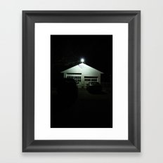 Midnight in a Small Town.  Framed Art Print