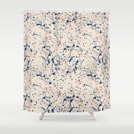 Cream Splatter Shower Curtain